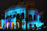Alte Oper in Frankfurt am Main Luminale-Premiere für die Alte Oper 2018