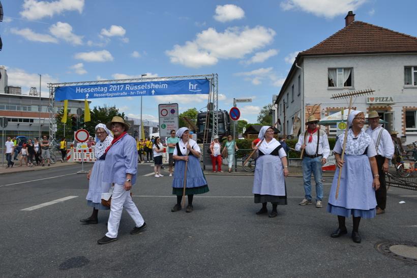 Großer Festzug 2017 beim Hessentag in Rüsselsheim