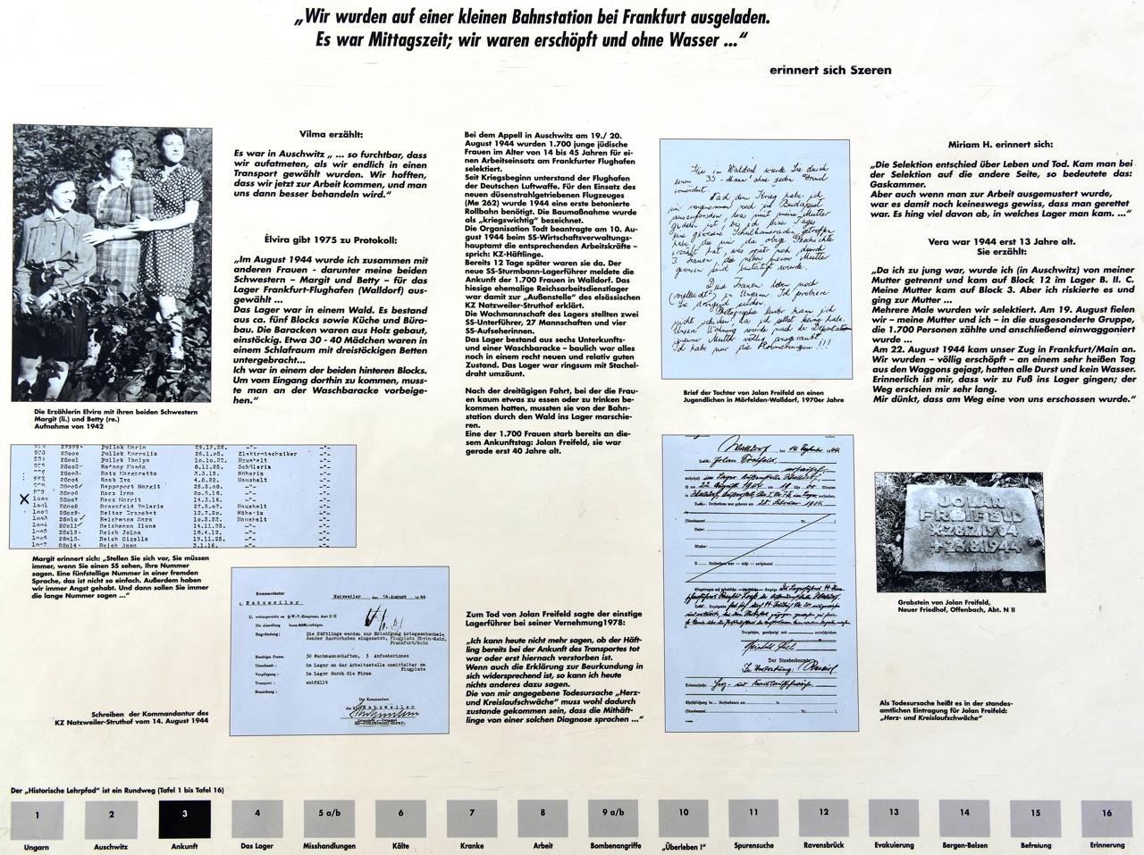 KZ-Außenlager Walldorf Gedenkstätte Einweihung  am 25.September 2016. Mit Lehrpfad um das KZ-Außenlager Geschichte des Holocaust begreifen.