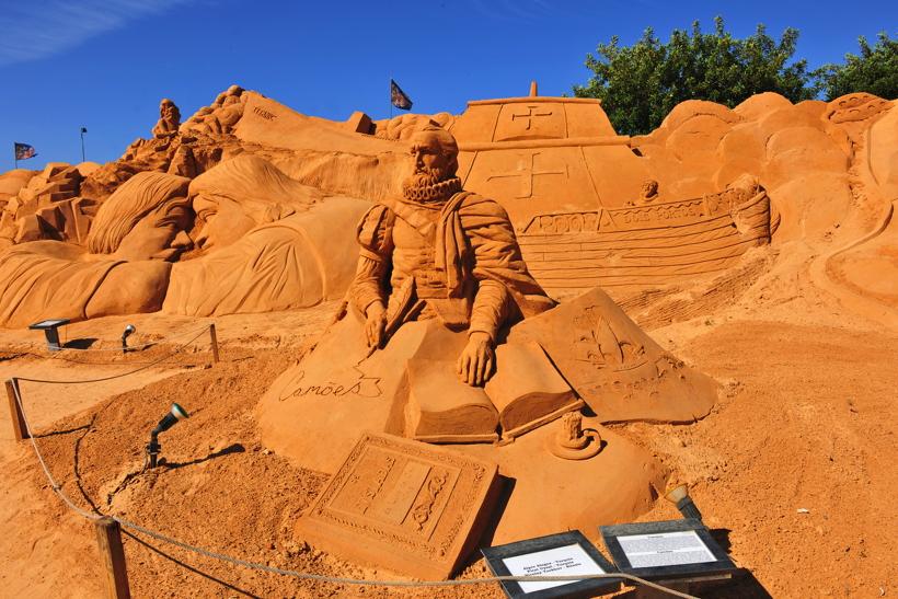 Fiesa International Sand Sculpture Festival Pera Silves Algarve Sand City Sandskulpturenfestival seit 2003