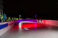 Eis-Schlittschuh und Eisstockbahn vom Verein TGS Walldorf auf dem Sportgelände ein einmaliger  Wintertraum in der Doppelstadt Mörfelden-Walldorf
