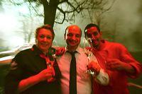 Silvester 2015 - 16, feiern im Restaurante Cantina da Tino mit Essen, Trinken, Musik, Feuerwerk, Heissluftballons, Fluglaternen und Böllern ins neue Jahr 2016